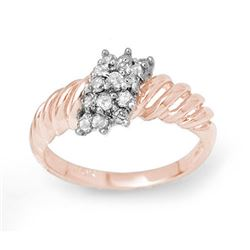 0.25 CTW Certified VS/SI Diamond Ring 14K Rose Gold - REF-33K6W - 14400
