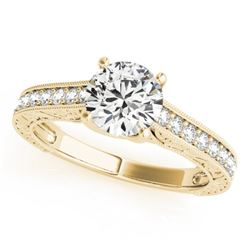 1.07 CTW Certified VS/SI Diamond Solitaire Ring 18K Yellow Gold - REF-200N5Y - 27557
