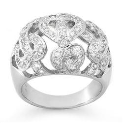 0.85 CTW Certified VS/SI Diamond Ring 18K White Gold - REF-135T3M - 13107
