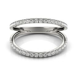 0.33 CTW Certified VS/SI Diamond Fashion Ring 18K White Gold - REF-60H8A - 28271