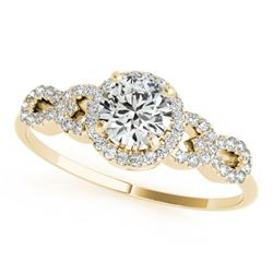 1.33 CTW Certified VS/SI Diamond Solitaire Ring 18K Yellow Gold - REF-367F5N - 27965