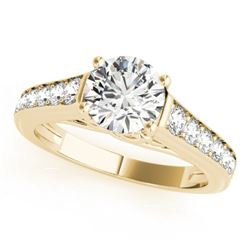 1.25 CTW Certified VS/SI Diamond Solitaire Ring 18K Yellow Gold - REF-218F8N - 27506