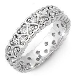 1.0 CTW Certified VS/SI Diamond Ring 10K White Gold - REF-59A8X - 11168