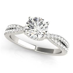 1.05 CTW Certified VS/SI Diamond Solitaire Ring 18K White Gold - REF-205F3N - 27882