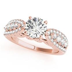 1.7 CTW Certified VS/SI Diamond Solitaire Ring 18K Rose Gold - REF-414T9M - 27874