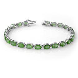 10.50 CTW Emerald Bracelet 10K White Gold - REF-72N8Y - 14267