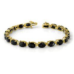 35.0 CTW Blue Sapphire Bracelet 10K Yellow Gold - REF-78H2A - 14233