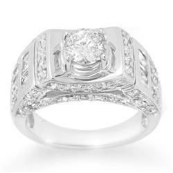 2.05 CTW Certified VS/SI Diamond Ring 14K White Gold - REF-278M8H - 10711