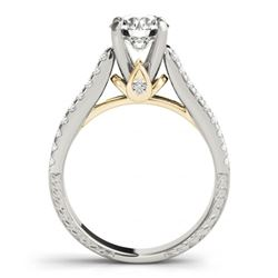 1.95 CTW Certified VS/SI Diamond Pave 2Pc Wedding Set 14K White & Yellow Gold - REF-408W8F - 32066