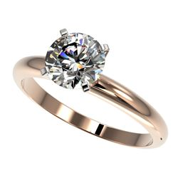 1.50 CTW Certified H-SI/I Quality Diamond Solitaire Engagement Ring 10K Rose Gold - REF-400A2X - 329