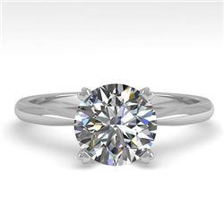 1.54 CTW VS/SI Diamond Engagement Designer Ring 14K White Gold - REF-528H2A - 30607