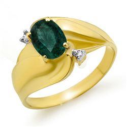 0.85 CTW Emerald & Diamond Ring 10K Yellow Gold - REF-18T8M - 12744