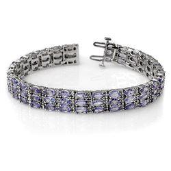 18.26 CTW Tanzanite & Diamond Bracelet 14K White Gold - REF-396K9W - 11656