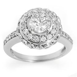 2.04 CTW Certified VS/SI Diamond Ring 14K White Gold - REF-285A5X - 11397
