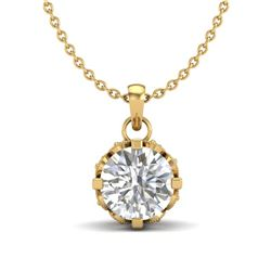0.85 CTW VS/SI Diamond Art Deco Stud Necklace 18K Yellow Gold - REF-138N4Y - 36841
