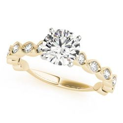 1.25 CTW Certified VS/SI Diamond Solitaire Ring 18K Yellow Gold - REF-206H8A - 27482