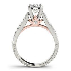 1.95 CTW Certified VS/SI Diamond Pave 2Pc Wedding Set 14K White & Rose Gold - REF-408H8A - 32065