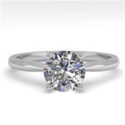 1.01 CTW VS/SI Diamond Engagement Designer Ring 18K White Gold - REF-284W8F - 32400