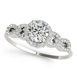 1.08 CTW Certified VS/SI Diamond Solitaire Ring 18K White Gold - REF-192F9N - 27960