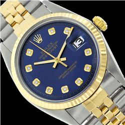 Rolex Ladies Two Tone 14K Gold/SS, Diamond Dial with Fluted Bezel, Sapphire Crystal - REF-326F6M