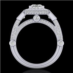3 CTW Princess VS/SI Diamond Solitaire Art Deco 3 Stone Ring 18K White Gold - REF-563H6A - 37133