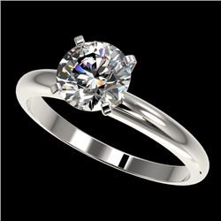 1.55 CTW Certified H-SI/I Quality Diamond Solitaire Engagement Ring 10K White Gold - REF-400K2W - 36