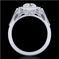 1.75 CTW VS/SI Diamond Solitaire Art Deco Ring 18K White Gold - REF-436K4W - 37319