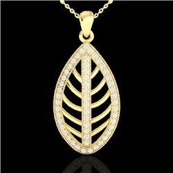 1 CTW Micro Pave VS/SI Diamond Designer Necklace 18K Yellow Gold - REF-100T2M - 21547