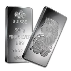 One piece 500 gram 0.999 Fine Silver Bar PAMP Suisse Fortuna-35835