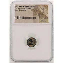 Arcadius 383-408 AD Ancient Eastern Roman Empire NGC F