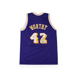 PSA Certified James Worthy Autographed Basketball Jersey