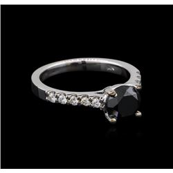 1.92 ctw Black Diamond Ring - 14KT White Gold