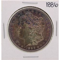 1886 $1 Morgan Silver Dollar Coin Amazing Toning