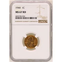 1944 Lincoln Wheat Cent Coin NGC MS67RD