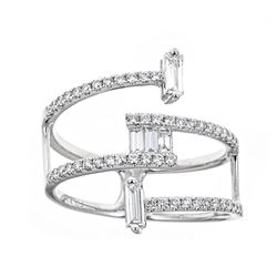 0.58 ctw Diamond Ring - 18KT White Gold