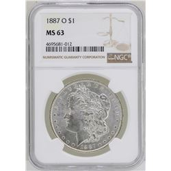 1887-O $1 Morgan Silver Dollar Coin NGC MS63