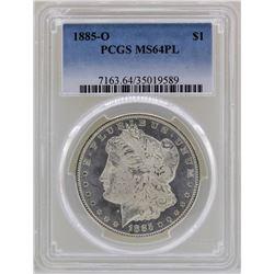 1885-O $1 Morgan Silver Dollar Coin PCGS MS64PL