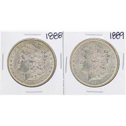Lot of 1888-1889 $1 Morgan Silver Dollar Coins