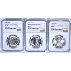 1946-S MS65, 1947 MS65, 1947-D MS64 ALL NGC