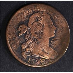 1798 DRAPED BUST LARGE CENT, FINE cleaned