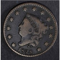 1828 LARGE CENT, SMALL WIDE DATE, FINE KEY DATE