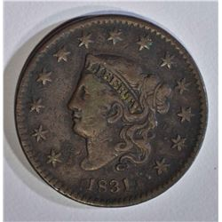 1831 LARGE CENT, VF a little dark