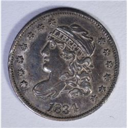 1834 CAPPED BUST HALF DIME  AU