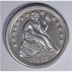 1852-O SEATED LIBERTY DIME  AU/BU