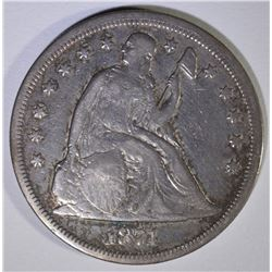 1871 SEATED LIBERTY DOLLAR  FINE