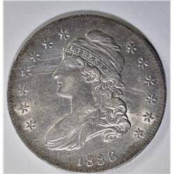 1836 CAPPED BUST HALF DOLLAR  AU/UNC