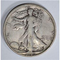 1919-S WALKING LIBERTY HALF DOLLAR