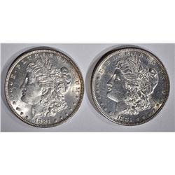 1881 CH BU+ & 1881-S CH BU MORGAN DOLLARS