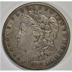1884-S MORGAN SILVER DOLLAR XF-AU