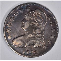 1832 CAPPED BUST HALF DOLLAR  AU